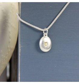 Pebble Heart Charm