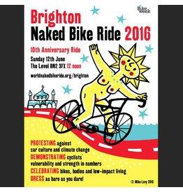 Poster for Brighton Naked Bike Ride 2016
