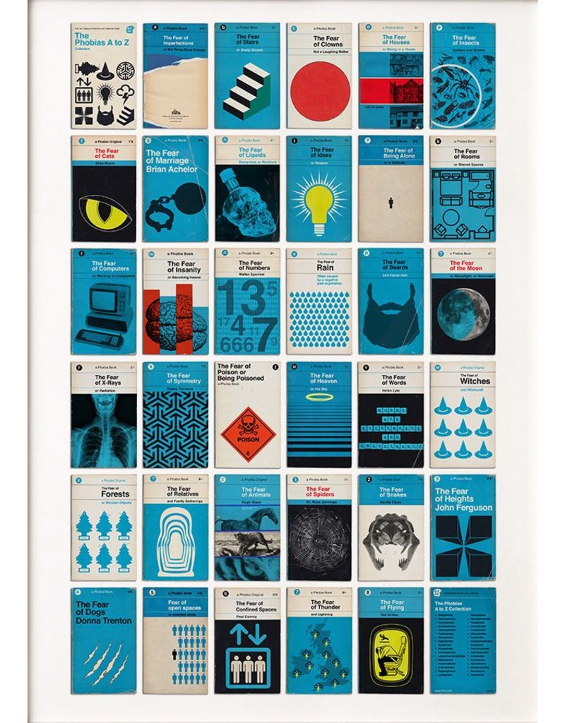 Phobias Book Covers A to Z