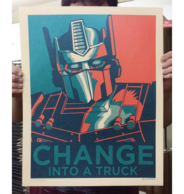 Change Into a Truck (Obama parody poster)