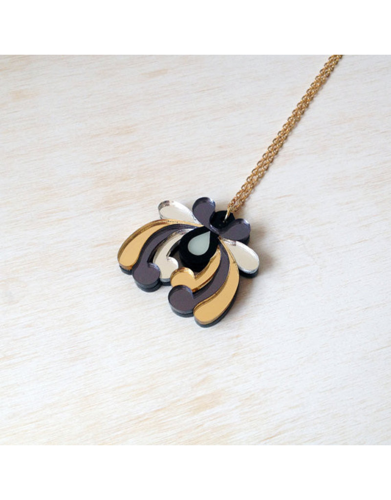 Floral Small Pendant - Gold