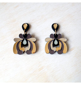 Floral Drop Earrings - Gold