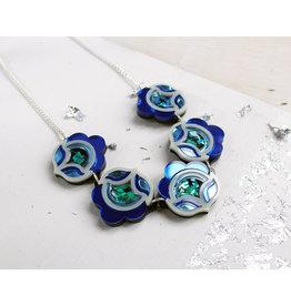 Flora Link Necklace - Blue