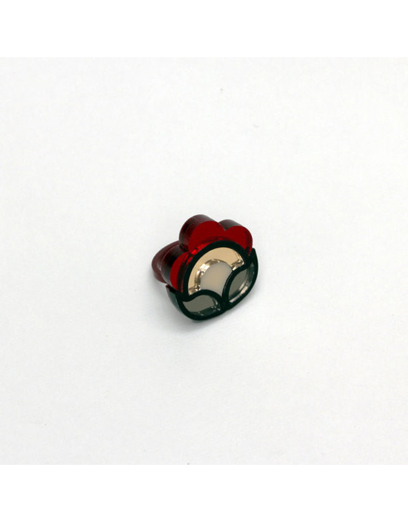 Flora Ring - Red (small)