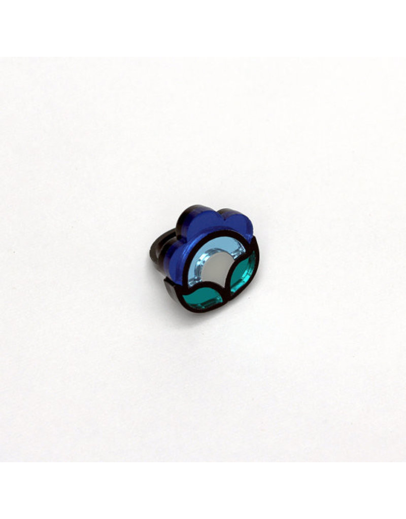 Flora Ring - Blue (small)