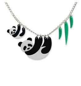 Panda Family Necklace