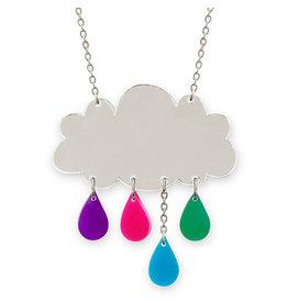 Raincloud Silver Necklace