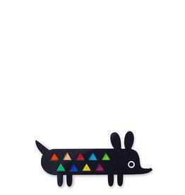 Doodllery Harlequin Dog Brooch