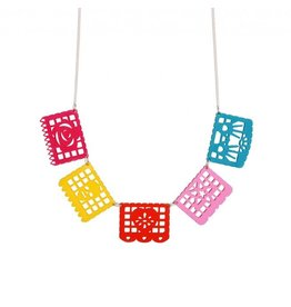Mexican Paper/papel Picardo Necklace