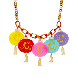 Oriental Lantern Necklace