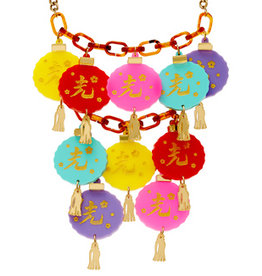 Oriental Lantern Statement Necklace