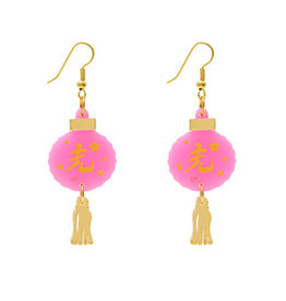 Oriental Lantern Earrings