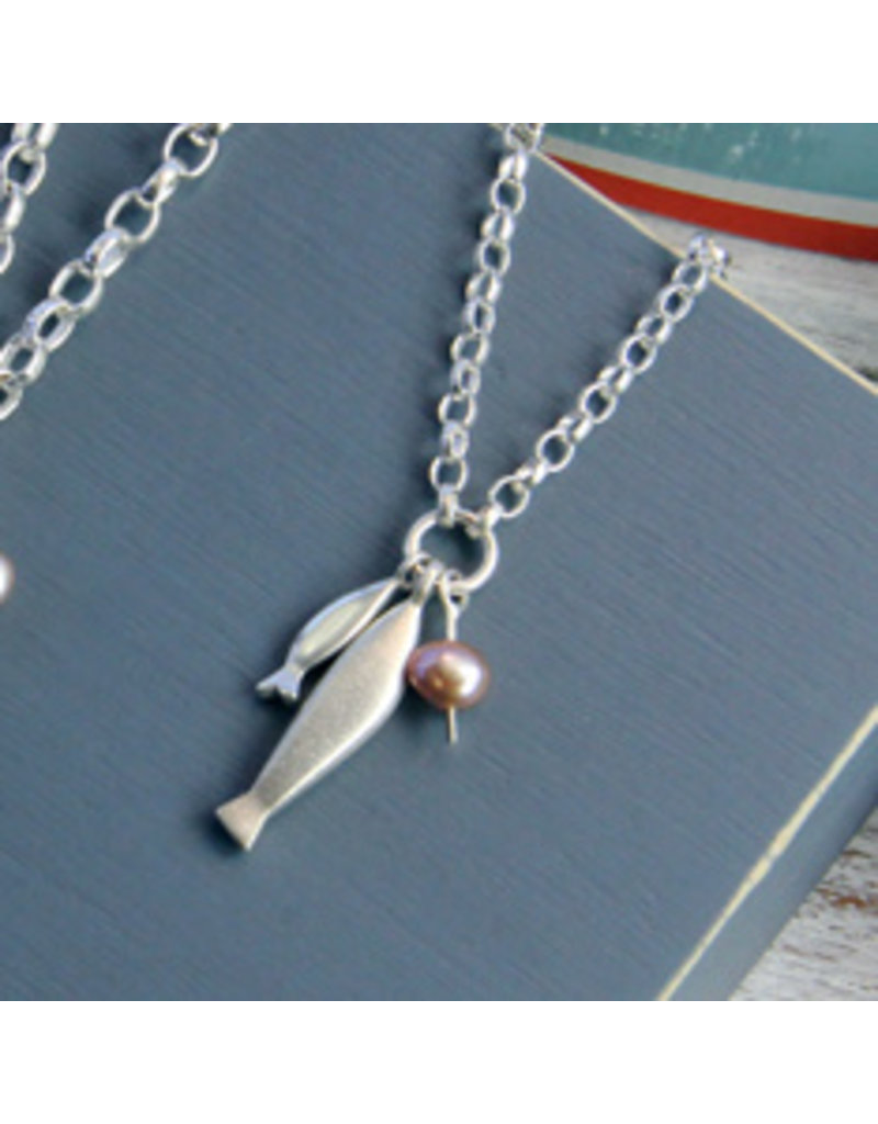 Big Fish Little Fish Small Necklace