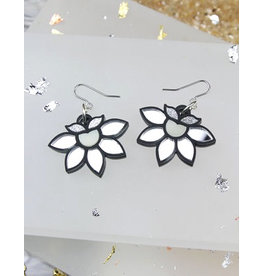 Lotus Earrings - Silver