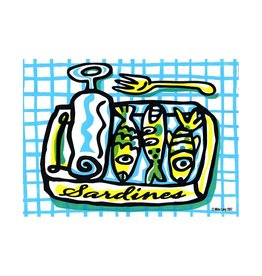 Green Sardines Small Poster