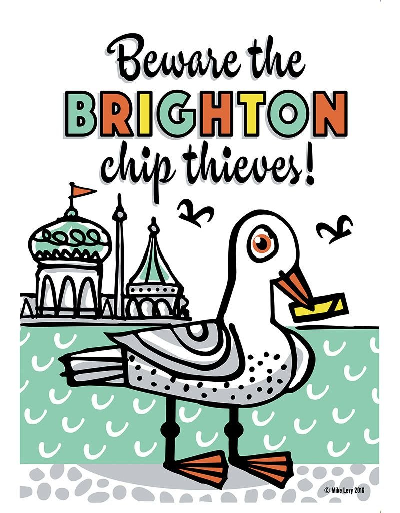 Brighton Chip Thieves Small Poster
