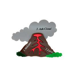 Volcano Brooch