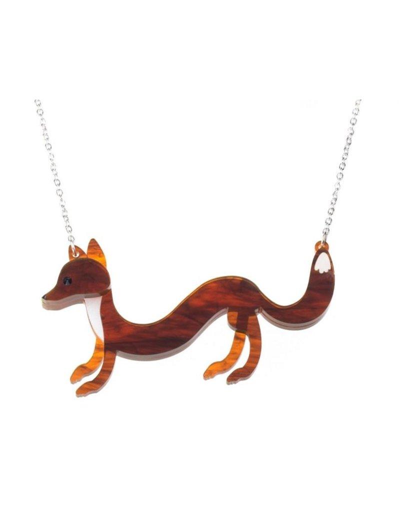 """Sausage"" Fox Necklace"