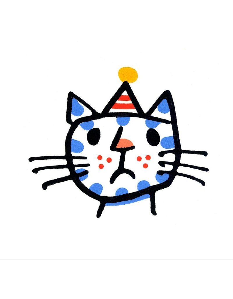 Cross Cat in a Party Hat