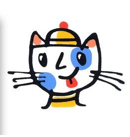 Beatnik Cat in a Beanie Hat