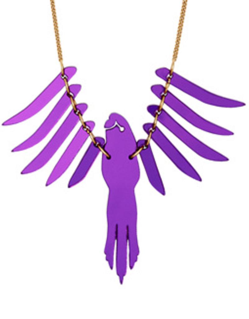 Parakeet Necklace - Purple