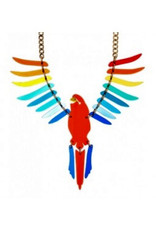 Parakeet Large Necklace - Rainbow