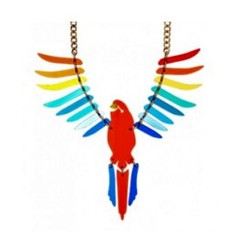 Parakeet Large Necklace - Rainbow