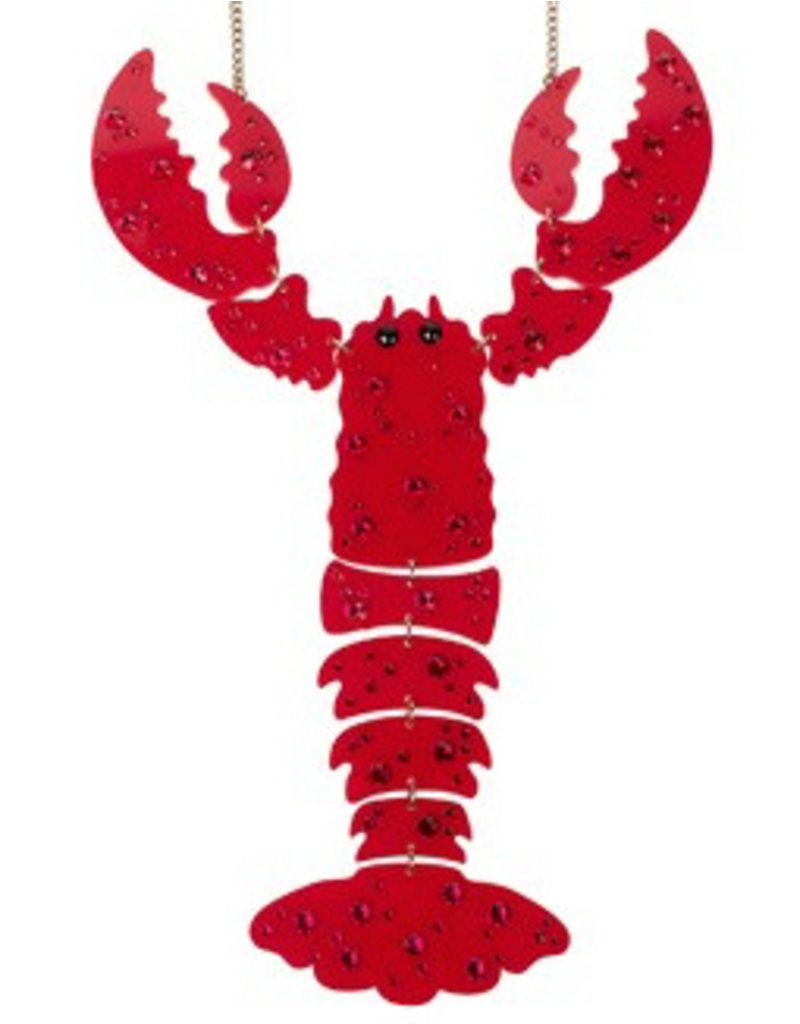 Lobster GIANT Necklace - Red