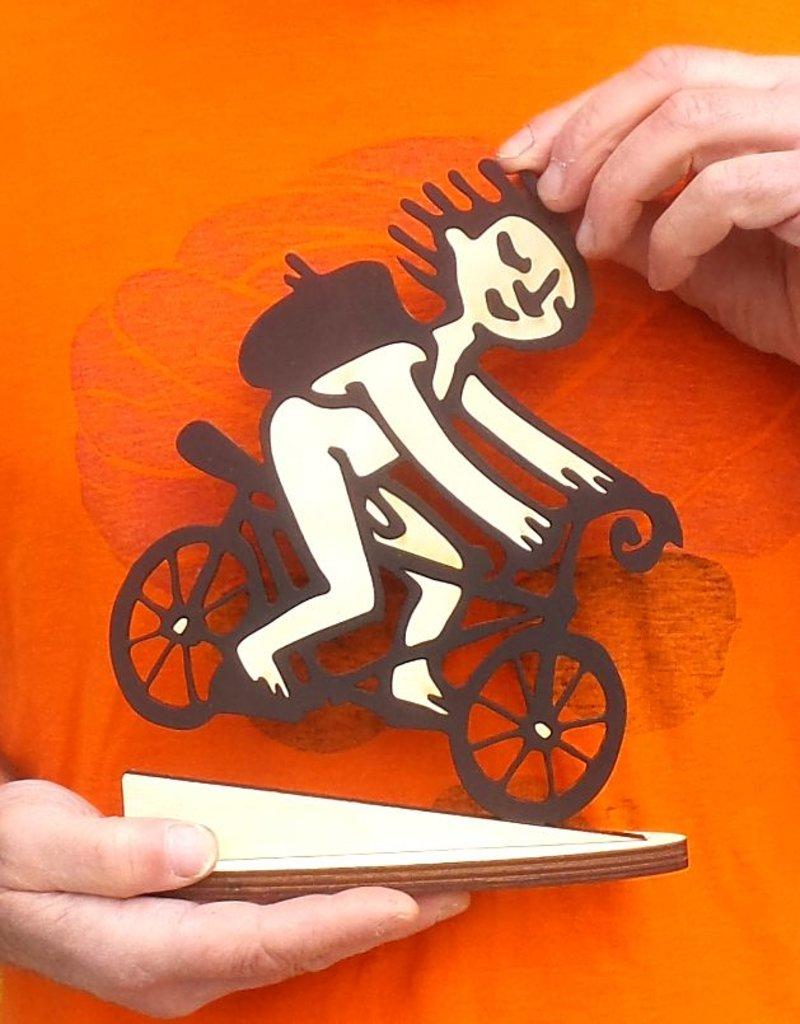 'Downhill Racer' bike sculpture