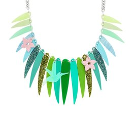 Tropical Palm Leaves Necklace