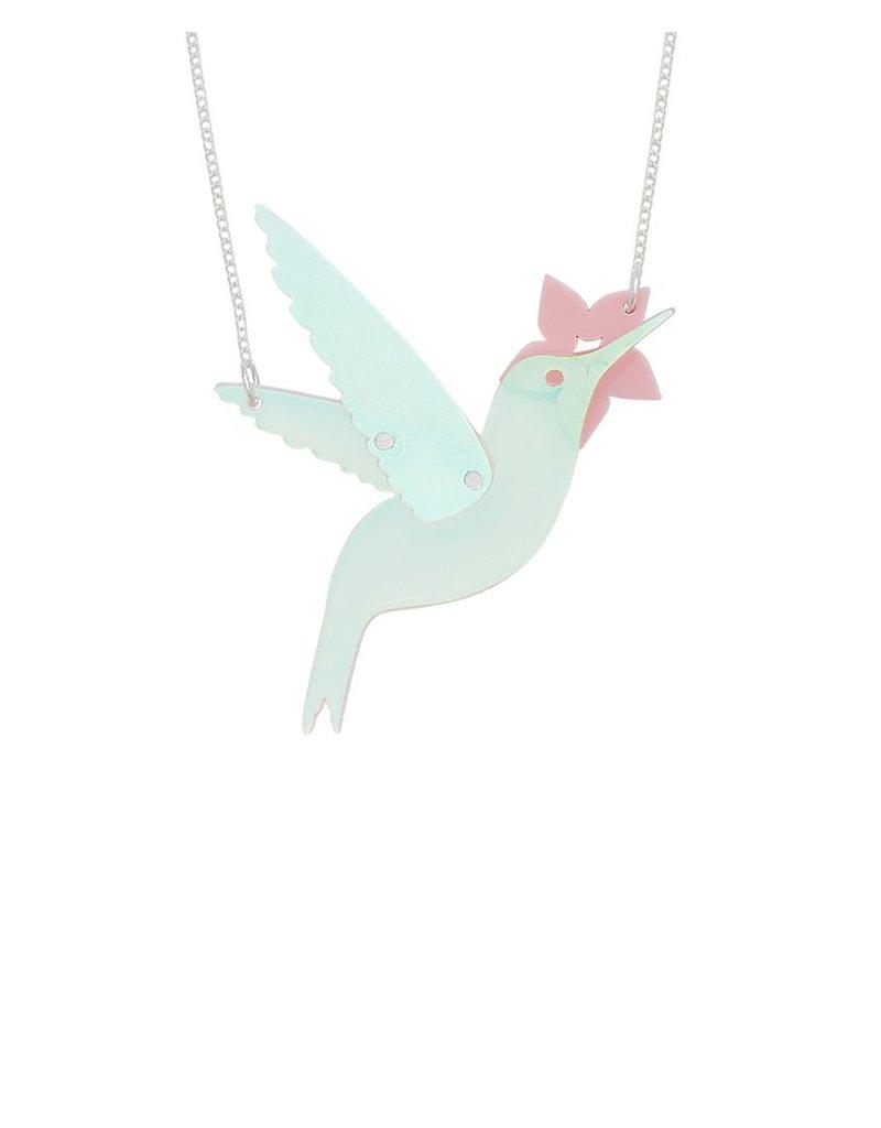 Hummingbird Necklace - Iridescent