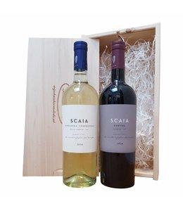 Wijn relatiegeschenk Italiaans wit/rood