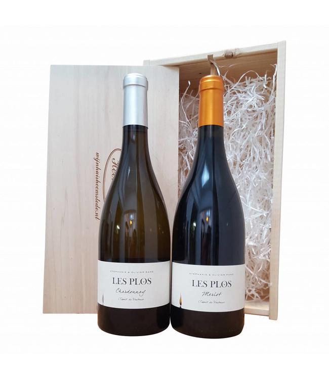 Wijn relatiegeschenk Frans wit/rood