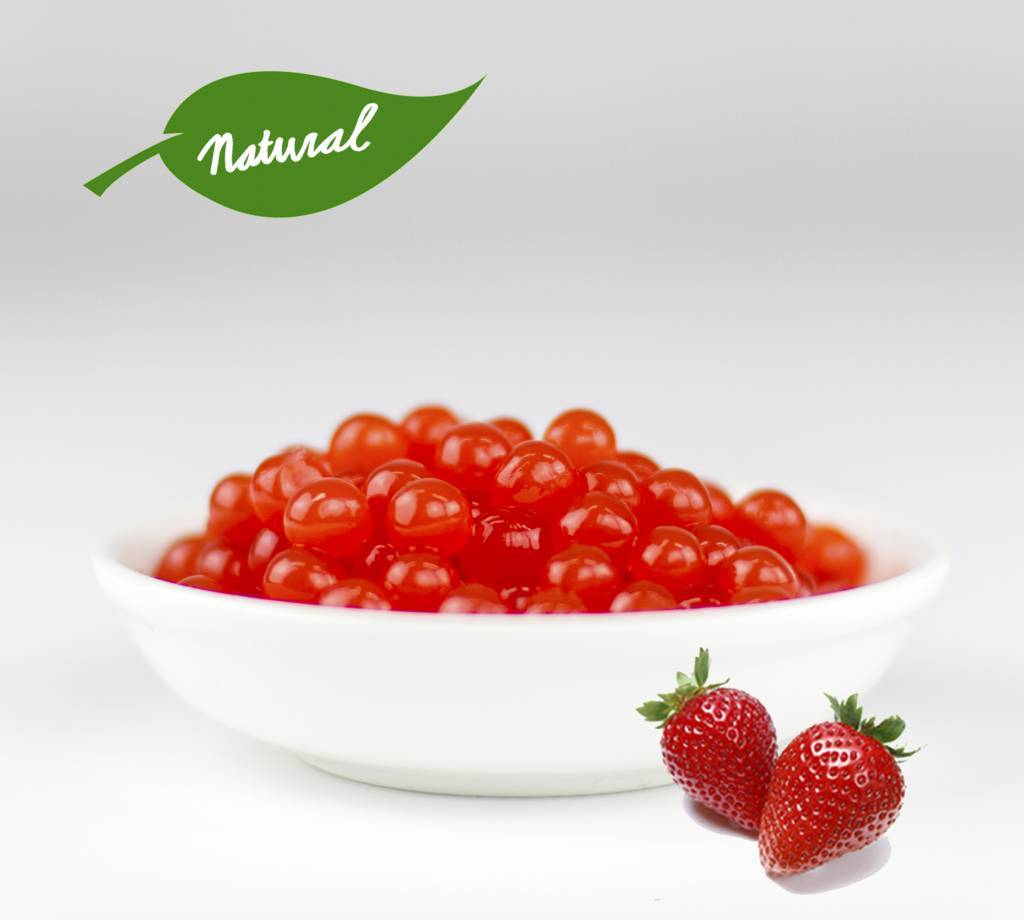 Strawberry Fruit Pearls ( 3.2kg TUBS )