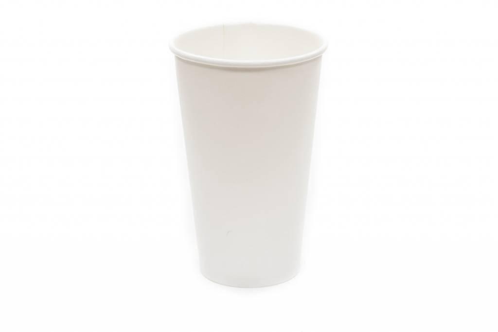 Gobelets en papier, 500 ml, blancs