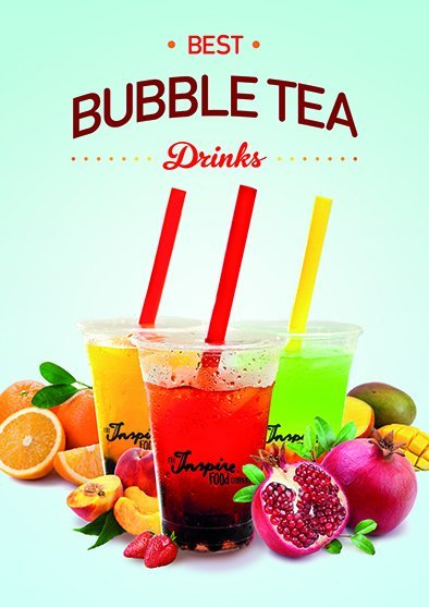 Bubble tea poster A1