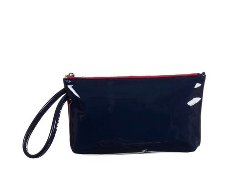 Le Babe Navy/Red Patent Bag