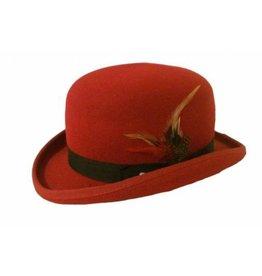 Karma Bowler Hat Red