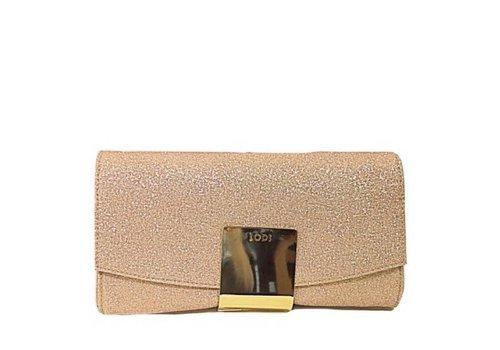 Lodi Nude glitter clutch Bag