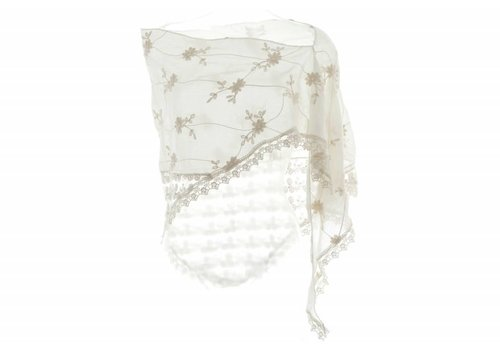 Kelly Craig Cream Lace/Pearl Scarf