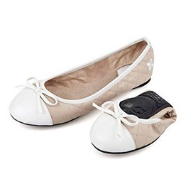 Butterfly Twists Olivia Nude/White Patent