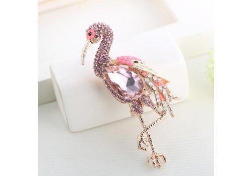 Peach Accessories 8727 Pink Flamingo Brooch