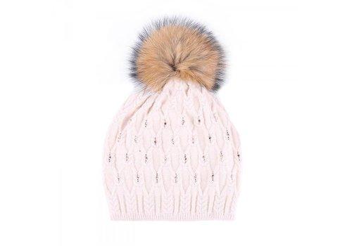 Peach Accessories SD01 Beige Diamanté wool Hat