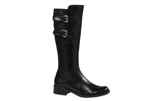 Caprice Boots 25533 Black Double Strap L/B