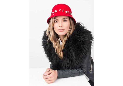 Pia Rossini COLLETTE Hat Red