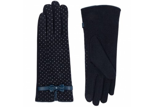 Pia Rossini ZARA Glove Navy dotty
