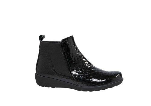 Caprice Boots 25457 Black Croc A/B