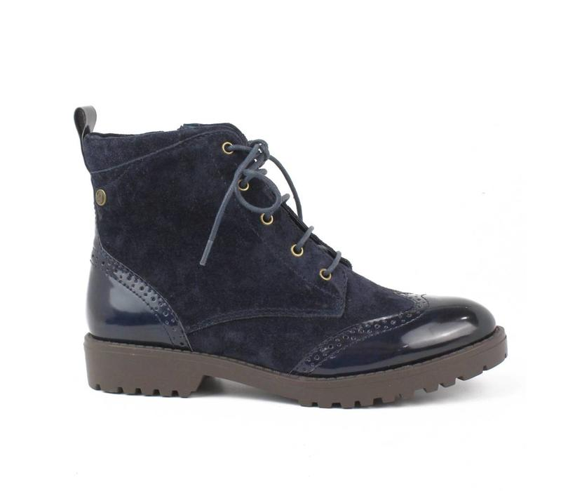 65721 Navy Laced Brogue A/B