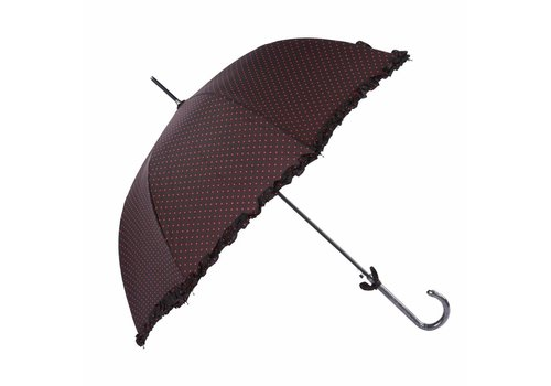 Peach Accessories BA002 Brown with Pink spot Umbrella