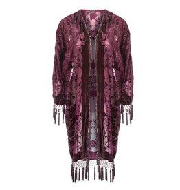 Jay Ley DVRSM285A Silk Devore Floral Jacket